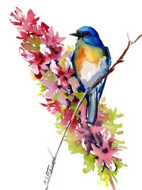 Bluebird And Field Flowers by Suren Nersisyan