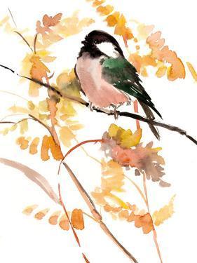 Chickadee Woodland 2 by Suren Nersisyan
