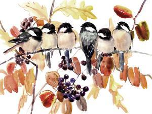 Chickadees In The Fall by Suren Nersisyan