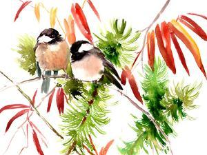 Chickadees by Suren Nersisyan