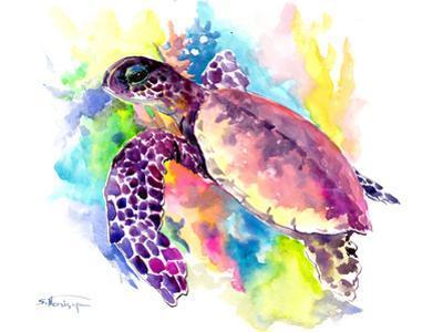 Coral Reef Sea Turtle 1 by Suren Nersisyan