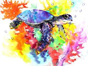 Coral Reef Sea Turtle 2 by Suren Nersisyan