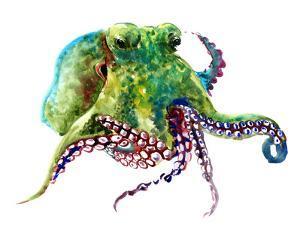 Earth Green Octopus by Suren Nersisyan