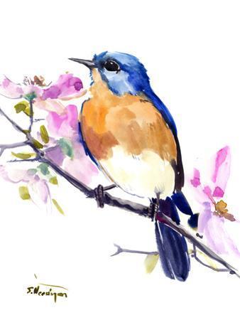 Eastern Bluebird 3 by Suren Nersisyan