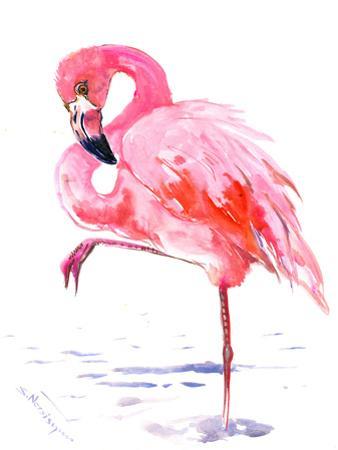 Flamingo Soft Pink by Suren Nersisyan