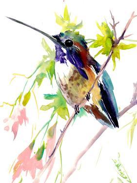 Hummingbird And Soft Pink Flowers 1 by Suren Nersisyan