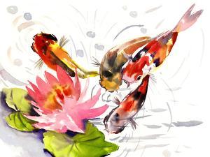 Koi Fish Pond 3 by Suren Nersisyan