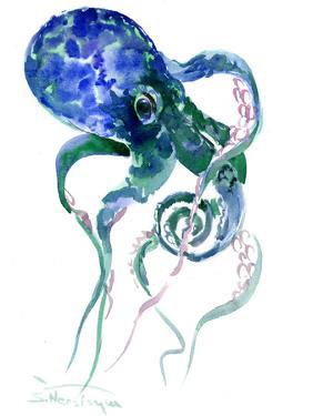 Octopus Blue Green by Suren Nersisyan