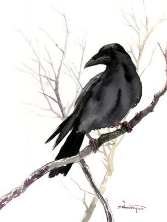 Raven On Tree by Suren Nersisyan