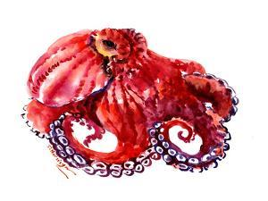 Red Octopus Cherry Color 2 by Suren Nersisyan