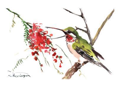 Ruby Throated Hummingbird by Suren Nersisyan