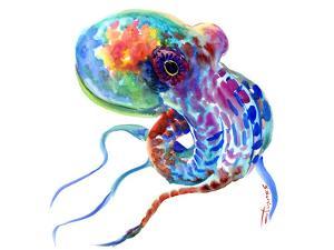 Squid Rainbow Colors by Suren Nersisyan