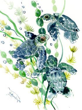 Three Sea Turtles by Suren Nersisyan