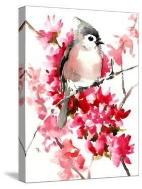 Titmouse And Spring Blossom Children Room 2 by Suren Nersisyan