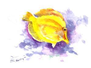 Yellow Angelfish by Suren Nersisyan