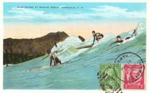 Surf Riding at Waikiki, Hawaii