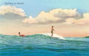 Surf Riding, Waikiki, Hawaii