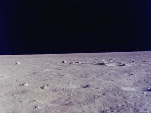 Surface of Moon as Seen from Window of Apollo 11 Lunar Module
