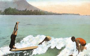 Surfboard Riding, Honolulu, Hawaii