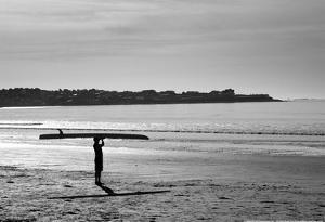 Surfer Holding Board Newport Rhode Island