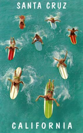 Surfers from Above, Santa Cruz, California
