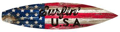 Surfin Usa Surfboard Plaque