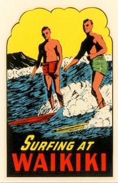 Surfing at Waikiki, Hawaii