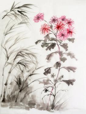 Chrysanthemum and Bamboo by Surovtseva