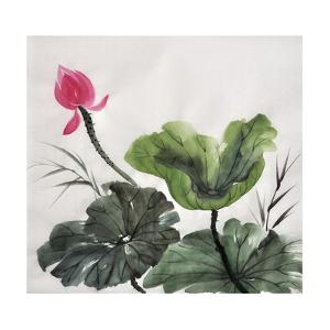 Watercolor Painting Of Lotus Flower by Surovtseva