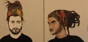 Diptych Two Modern Men by Susan Adams
