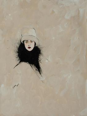 Lady with Black Fur 2015 by Susan Adams