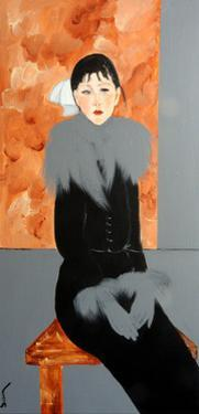 Modigliani Lady with Grey Stole and Gloves, 2016 by Susan Adams