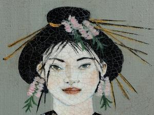 Qing Dynasty Women with Butterfly, 2015, Detail (2) by Susan Adams