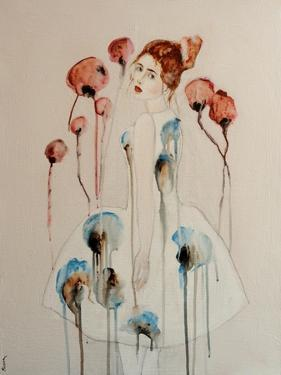 Redhead with Poppies, 2016 by Susan Adams