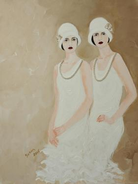 Two Ladies in White 2015 by Susan Adams