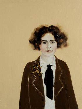 Young Frida in a Jacket, 2017 by Susan Adams