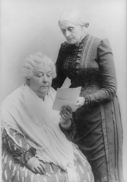 Susan B. Anthony (With Elizabeth Cady Stanton) Art Poster Print