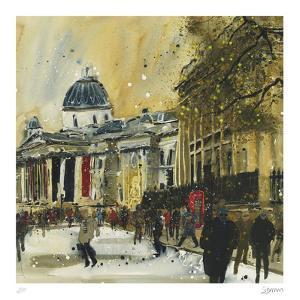 Approaching Trafalgar Square, London by Susan Brown