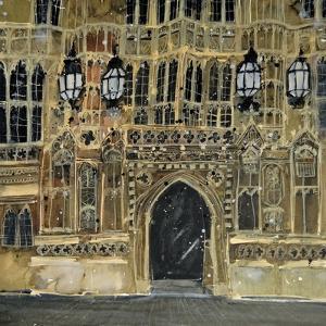 Entrance, Parliament, London by Susan Brown