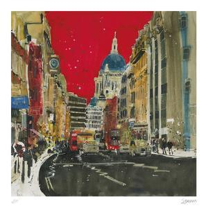 Hustle and Bustle, London by Susan Brown