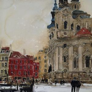St Nicholas from the Square, Prague by Susan Brown
