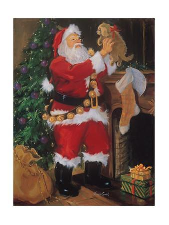 Santa with Puppy by Susan Comish