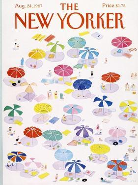 The New Yorker Cover - August 24, 1987 by Susan Davis