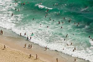 Beach Scene, Nazare, Portugal by Susan Degginger