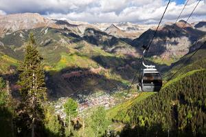 The Free Gondola and the Town of Telluride Below, Colorado by Susan Degginger