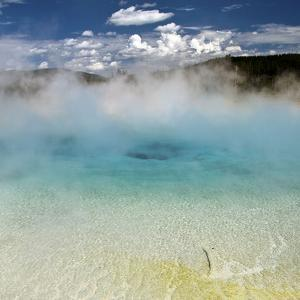 Yellowstone Thermal Pool in Blue by Susan Heller