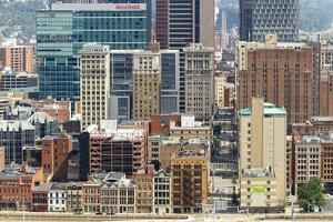 Architecture in downtown Pittsburgh, Pennsylvania, USA. by Susan Pease