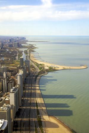 Lake Michigan from the John Hancock Center. Chicago, Illinois, Usa