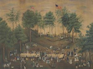Anti-Slavery Picnic at Weymouth Landing, Massachusetts, C.1845 by Susan Torrey Merritt