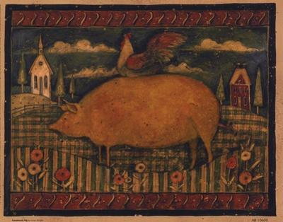 Farmhouse Pig by Susan Winget
